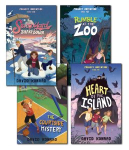 Project Adventure series book covers